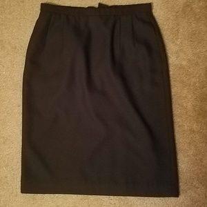 Pendleton Basic Black High Waist Pencil Skirt